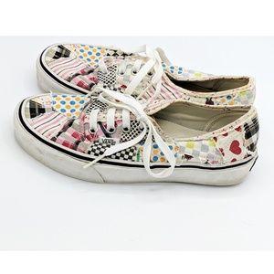 Patchwork Vans Sz 7.5 Womens Lace Up Shoes
